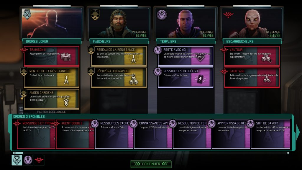 Les factions de la resistance